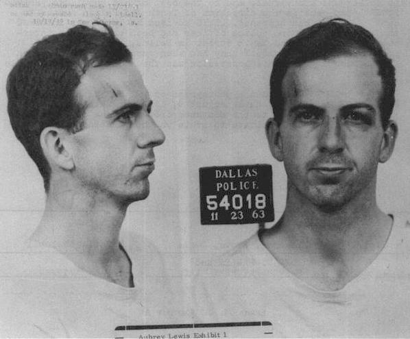 Oswald mug shot from Dallas PD 11/23/1963