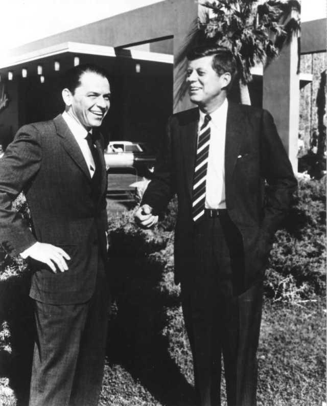 John Kennedy with Frank Sinatra